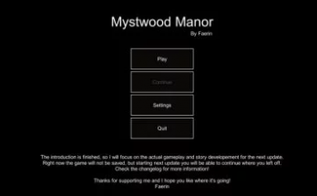 Mystwood Manor 0.1.1c Game Walkthrough Download for PC Android